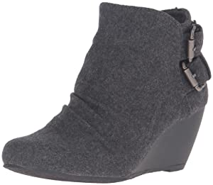 Blowfish Women's Bug Ankle Bootie, Grey, 8 M US