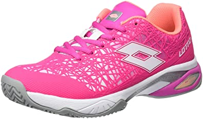 Lotto Viper Ultra III Cly W, Zapatillas de Tenis Mujer, Fux FL/Wht ...