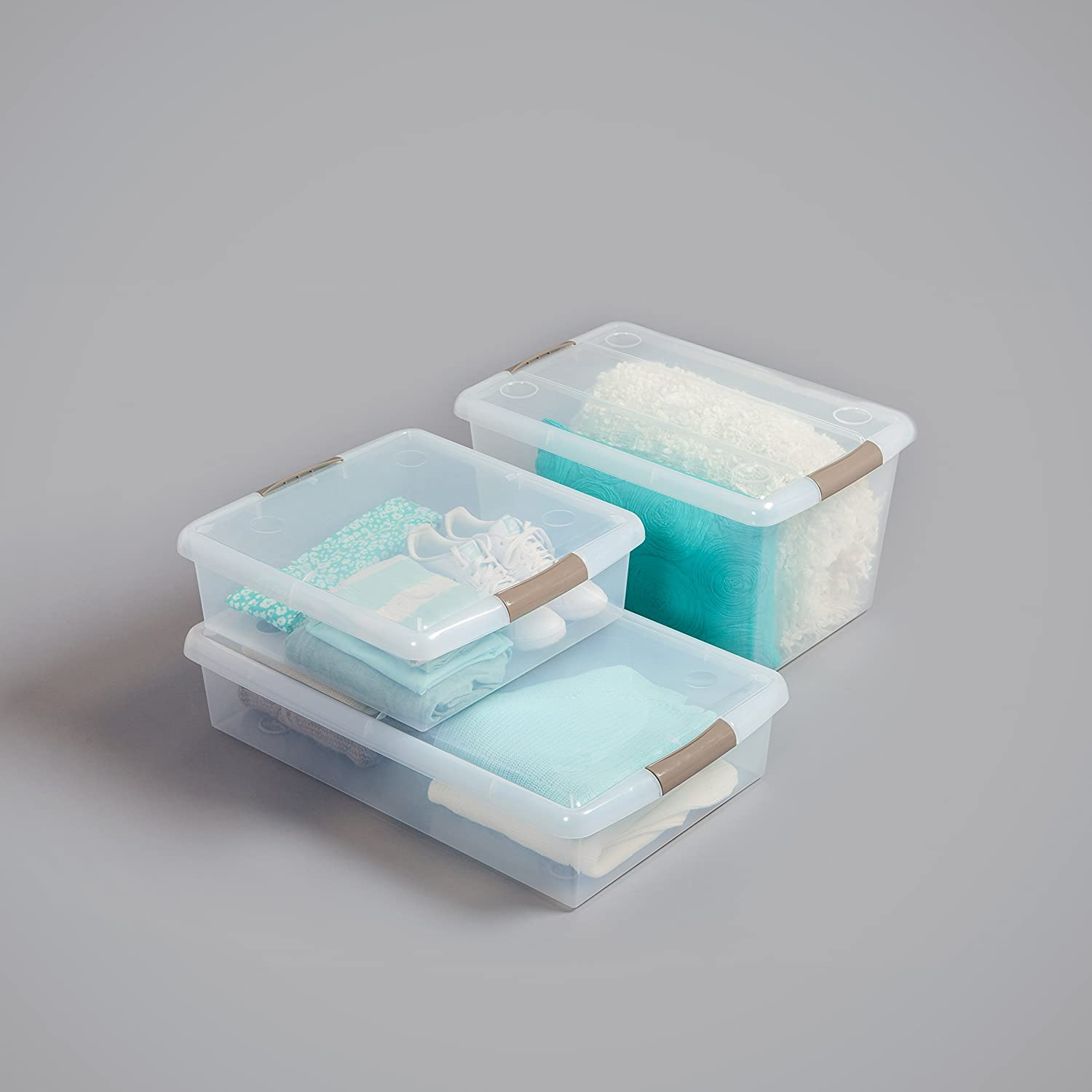 Pack of 6 Store and Slide Storage Box
