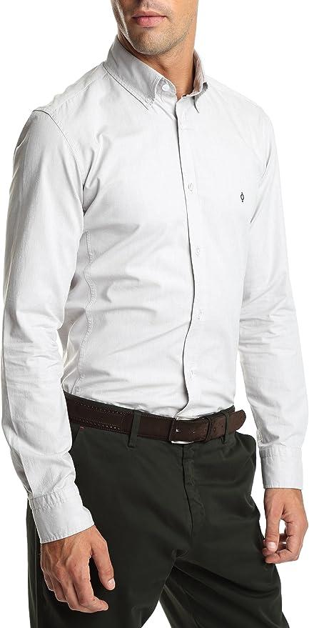 Caramelo, Camisa Oxford Slim Buttondown, Hombre · Gris Medio, Talla XL: Amazon.es: Ropa y accesorios