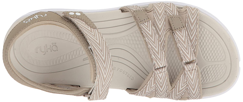 Ryka Women's Savannah Sandal B07575BL1C 6.5 W US|Moonrock/Snowline Ecru