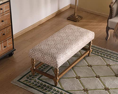 Guyou Fabric Dining Bench 18.5 Inch Height Accent Bench