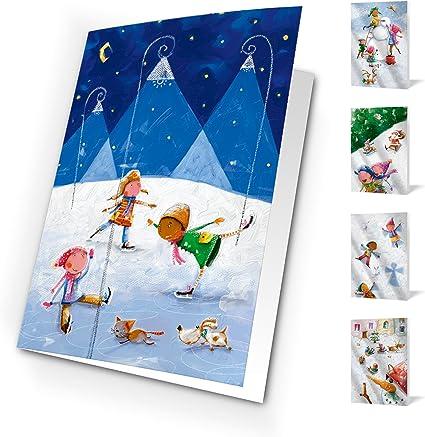 Tarjetas de navidad Festive one world. Pack de 10 tarjetas.: Amazon.es: Oficina y papelería