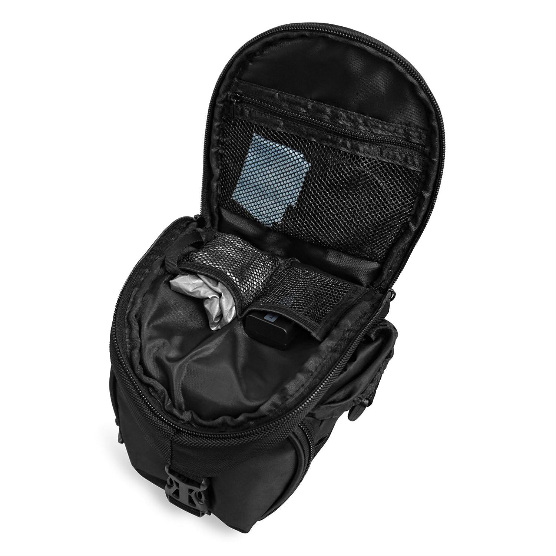 Black Premium Camera Bag for your SLR Camera /• Shoulder Bag for DSLR Camera /• Padded Universal Case with Shoulder Strap /• Photo Bag with extra Rain Cover