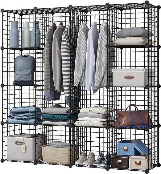 Adjustable Closet Organizer 6 Cube Wardrobe Storage Unit Clothes Toys Shelving