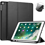Fintie Case with Built-in Apple Pencil Holder for iPad 9.7 2018 (6th Gen) - [SlimShell] Lightweight Soft TPU Back Protective Stand Cover with Auto Wake / Sleep for Apple iPad 9.7 inch Tablet (2018 Release), Black