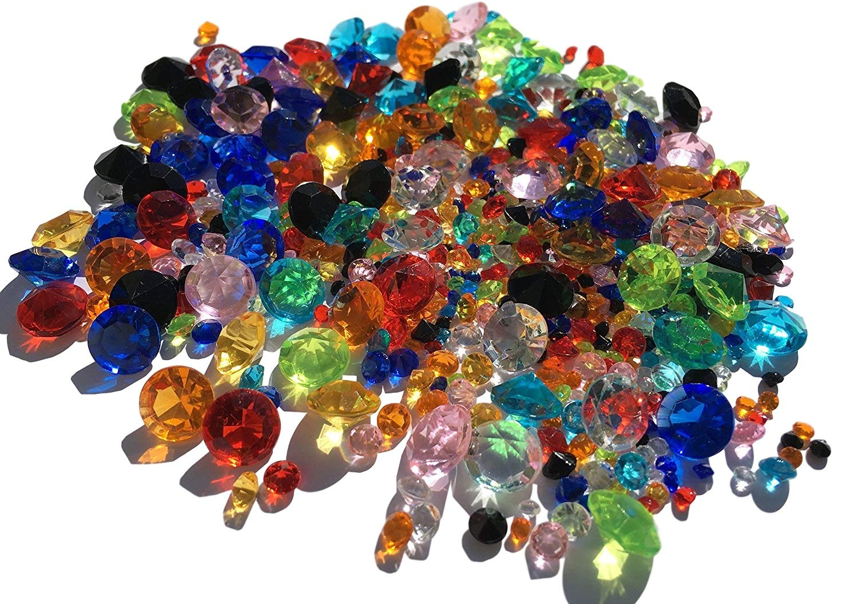 450unidades mezcla multicolor reluciente Deko diamantes brillantes piedras brillantes acrílico Piedras 11mm + 5mm + 3mm Manualidades gltzer brillantes para decorar de Crystal King
