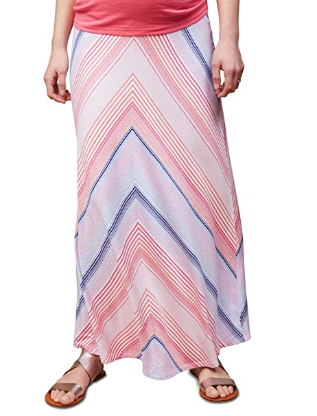98d388ed16cd4 Motherhood Fold Over Belly Printed Maternity Maxi Skirt at Amazon Women's  Clothing store: