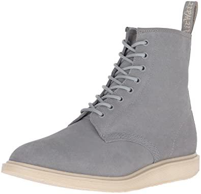 Dr. Martens Men's Whiton Hi Suede WP Chukka Boot, Grey Mare, 12 UK/13 M US