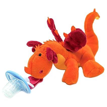 Amazon.com: Dragón Chupete con Animal de peluche – Baby ...