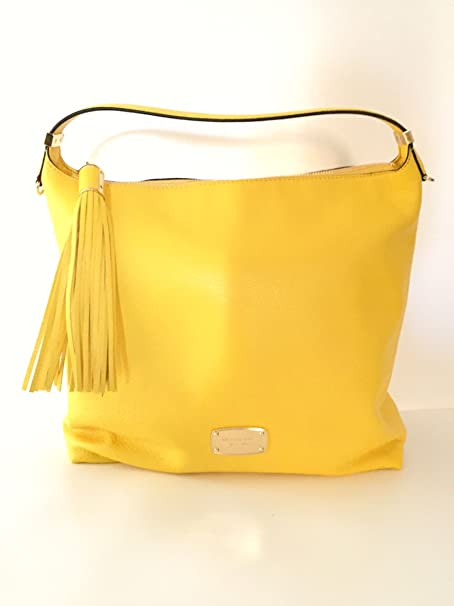 e001ad81fd8f Michael Kors Bedford Large Citrus Yellow Leather Top Zip Shoulder Bag:  Amazon.ca: Clothing & Accessories