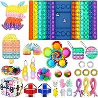 Fidget Packs Ferramentas Anti-Ansiedade, Push Pop Fidget Block Set Brinquedos de Alívio do Stress para Adultos Kid…