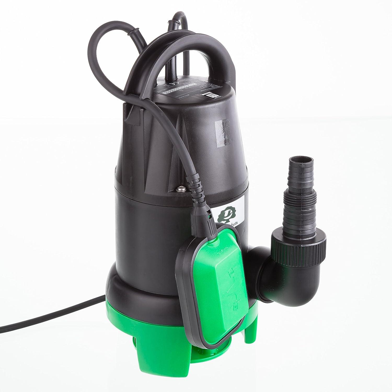 Bomba de Motor Sumergible con Interruptor de Flotador caudal 7000 l//h Altura de elevaci/ón m/áxima de 5 m 350 W Ultranatura Aguas residuales SP-100