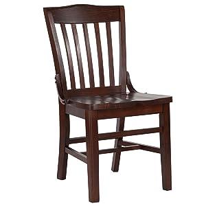 Flash Furniture HERCULES Series School House Back Walnut Wood Restaurant Chair