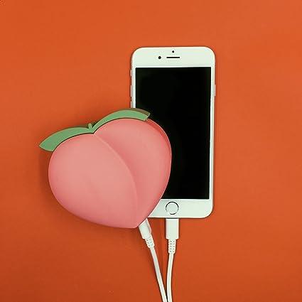 Amazon.com: Peach Power Emoji - Cargador de batería portátil ...