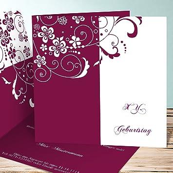 Einladungskarten Zum 80 Geburtstag Selber Machen Blütenkarte 5
