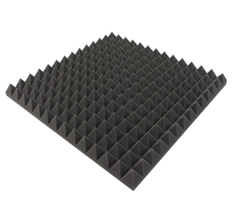 Pyra - Espuma de aislamiento acú stico (en forma de pirá mides, 3 m² , -50 x 50 x 5 cm) 3 m² PYRA-5003-HL