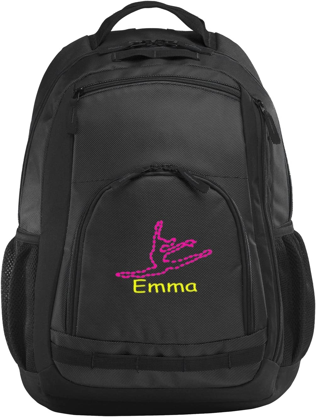 all about me company Polyester Xtreme Backpack Personalized Dance Book Bag Dark Grey//Black//Black