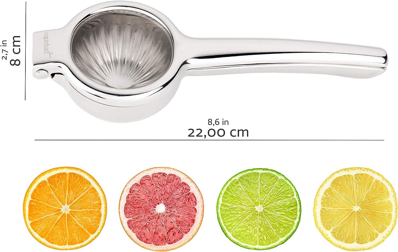 my Companion Lemon Squeezer Lime Press Orange Press for Lemons silver. robust dishwasher-safe Limes or Oranges