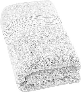 700 GSM Premium Cotton Bath Towel (White, 89 x 178 Centimeters) Luxury Bath
