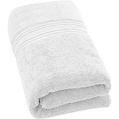 Utopia Towels 700 GSM Extra Large Bath Towel (35 x 70 Inches) - Luxury Bath Sheet - White