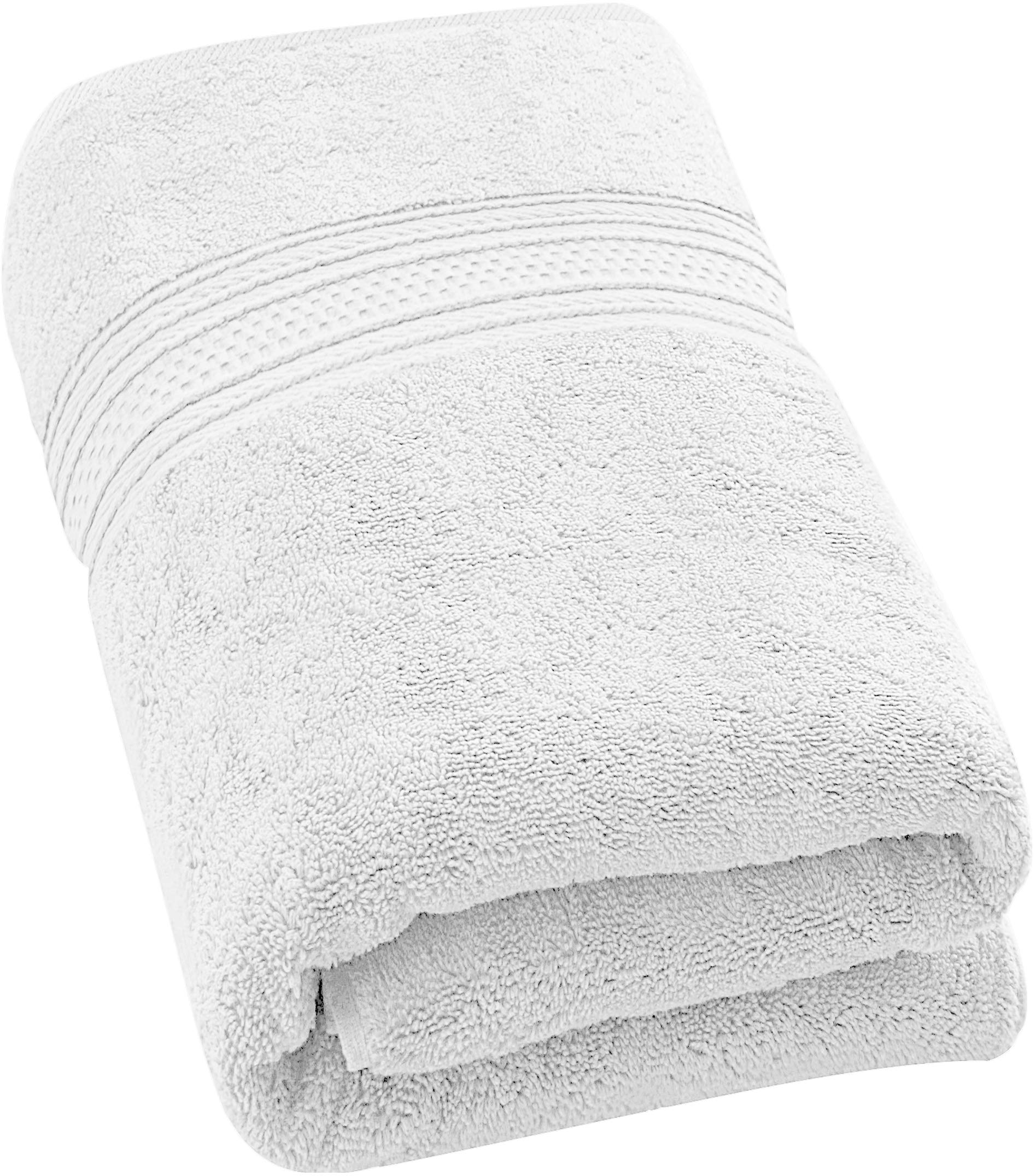 Utopia Towels Pack of 24-700 GSM Premium Cotton Bath Towel (White, 27 x 54 Inches) Luxury Bath Sheet Perfect for Home, Bathrooms, Pool and Gym Ring-Spun Cotton (White)