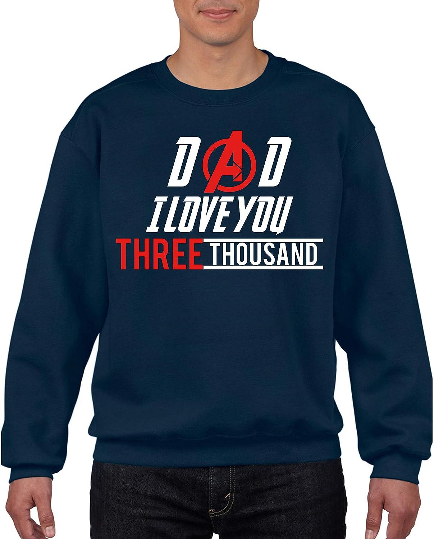 Avengers Jumper,Dad I Love You 3000 (3 Thousand) Iron Man, Marvel Comics Superheroes Fans Gift Kids & Adults Size Jumper Top