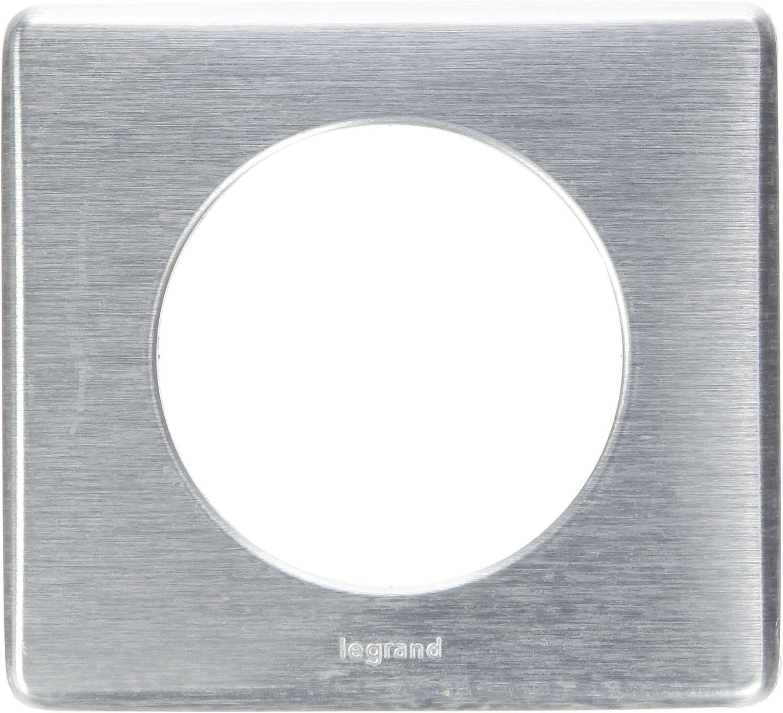 Legrand LEG68974 Plaque c/éliane 4 postes tungst/ène m/étal