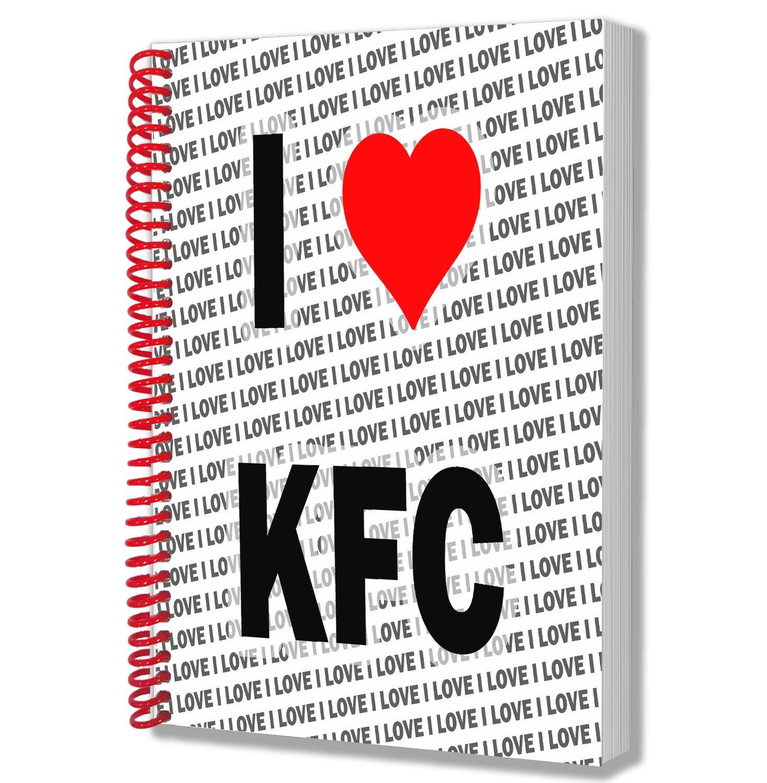 I Love KFC Gift - A5 Notebook - Notepad - Birthday - Christmas ...