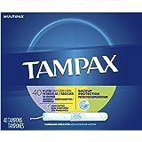 Tampax Cardboard Applicator Tampons, Light/Regular/Super Absorbency Multipack, Unscented, 40 Count- Pack of 6 (240 Count…