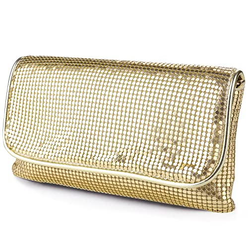 087cc6b6bcce Women s Bling Clutch Handbag Aluminum Metal Mesh Evening Bag Cocktail Party  Wedding  Handbags  Amazon.com