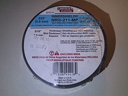 Lincoln Electric Innershield NR-211-MP Shelfshielded Coiled Wire .035
