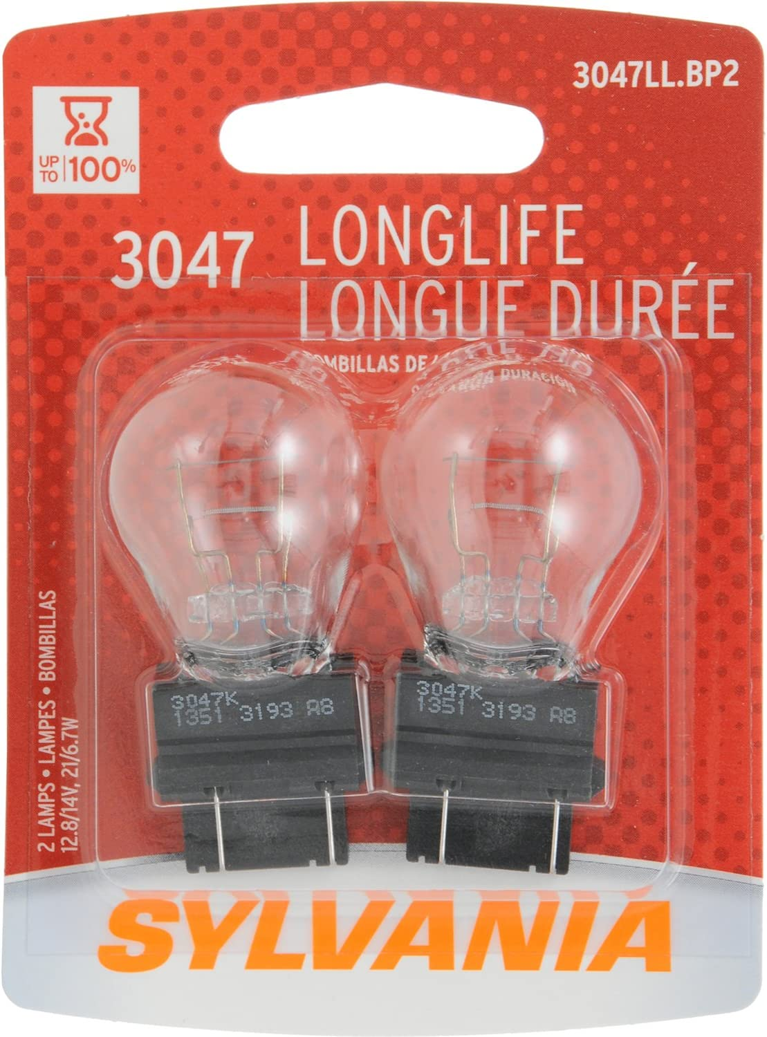 Contains 2 Bulbs SYLVANIA 1157 Long Life Miniature Bulb,