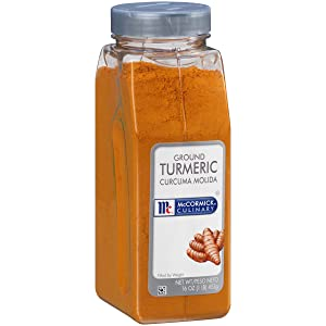 McCormick Culinary Ground Turmeric, 16 oz - One 16 Ounce Container of Powdered Turmeric Spice Perfect for Indian, Southwest Asian, Middle Eastern, and North African Cuisines