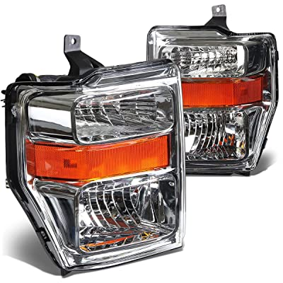 DNA MOTORING HL-OH-FSUPER08-CH-AM Headlight Assembly, Driver and Passenger Side: Automotive
