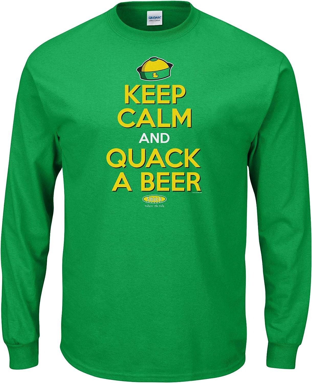 Keep Calm and Quack a Beer Green T-Shirt Sm-5X Oregon Football Fans