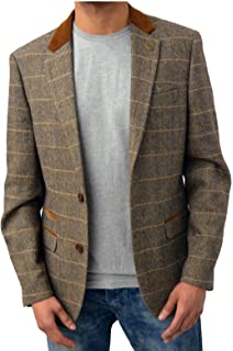 Harris Tweed New Jacket With Elbow Patch Rory 42 Short Amazon