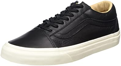 1169c4371586 Vans Unisex Adults  Old Skool Leather Trainers