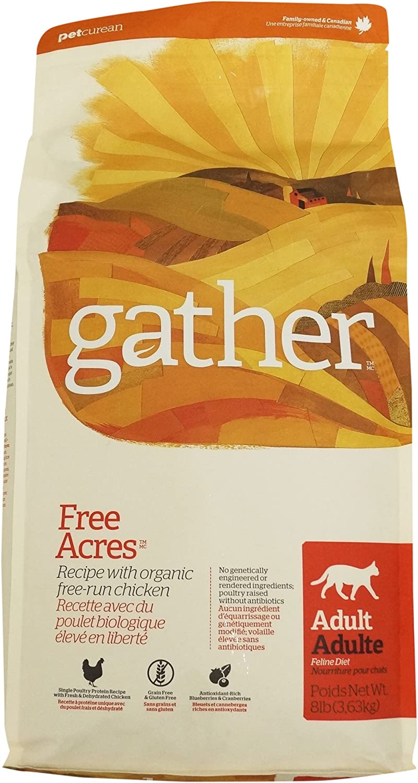 Petcurean Gather Free Acres Recipe Dry Cat Food - 8 lb. Bag