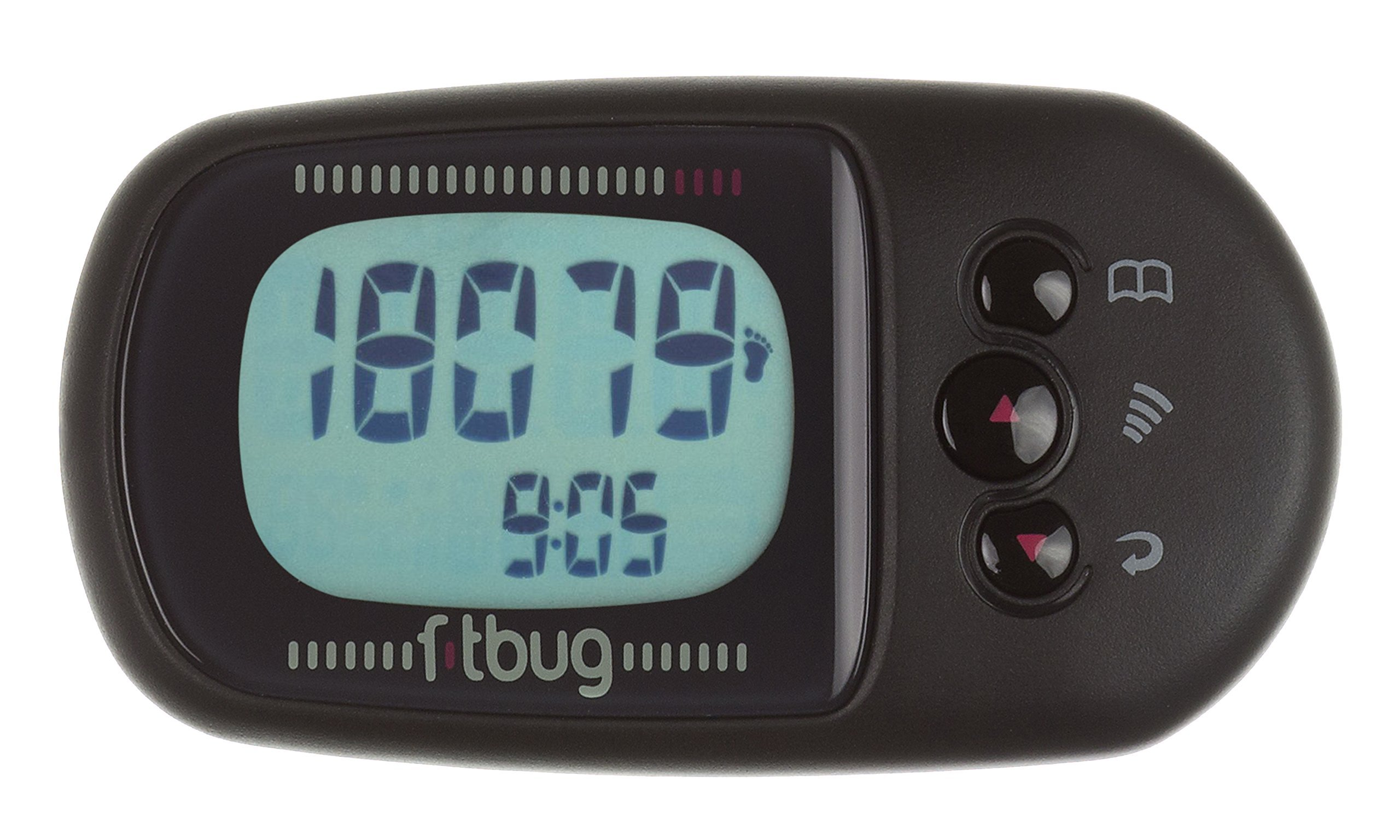 Fitbug AIR Activity Tracker - Retail Packaging - Black by Fitbug