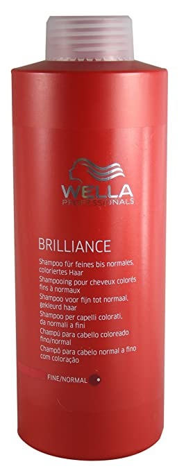 wella professionals shampooing pour cheveux colors fins normaux brilliance 1000 ml - Meilleur Shampoing Cheveux Colors