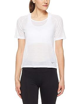 Nike W NK Miler Top SS Breathe - Camiseta, Mujer: Amazon.es: Deportes y aire libre