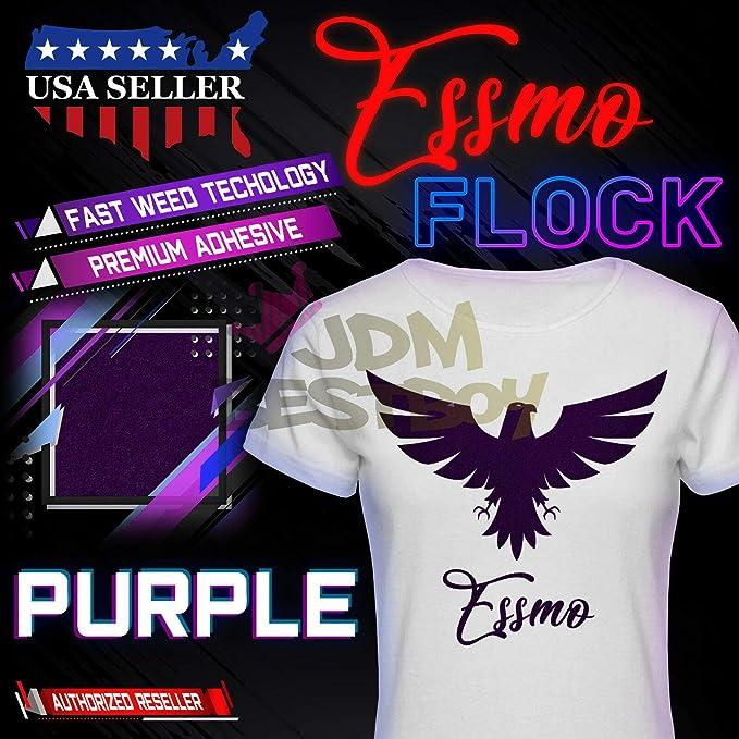 ESSMO\u2122 Navy Blue Flock Heat Transfer Vinyl HTV Easy To Weed Sheet Roll T-Shirt 20 Wide Iron On Heat Press DF11