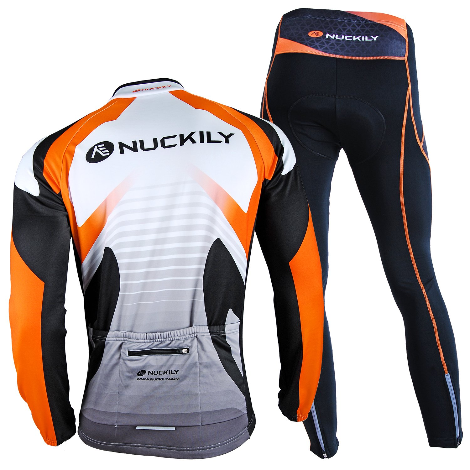 9aedeed6e Amazon.com   NUCKILY Men s Bicycle Jersey Set Long Sleeve Fleece Cycling  Jersey with Pants Suit for Winter   Sports   Outdoors