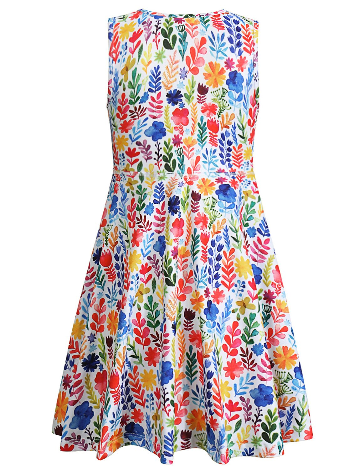 Jxstar Girl Casual Dress Flower Summer Floral Printed Sleeveless Holiday Little by Jxstar (Image #2)
