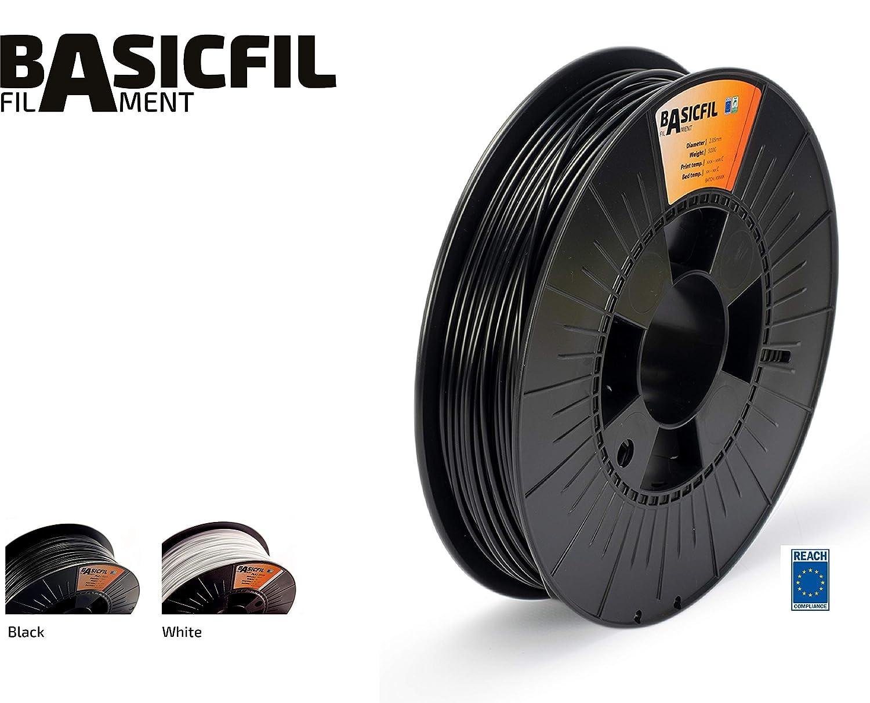 BASICFIL ABS 2.85mm, 500 gr filamento de impresión 3D, Blanco ...