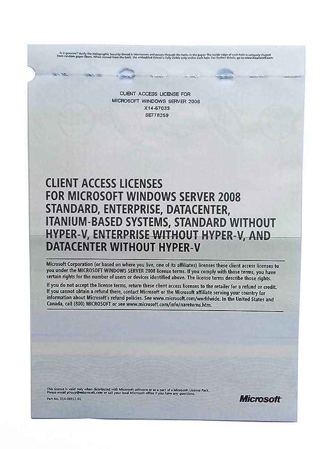 Windows Server 20082008 R2 Remote Desktop Services RDS 20 USER CAL License