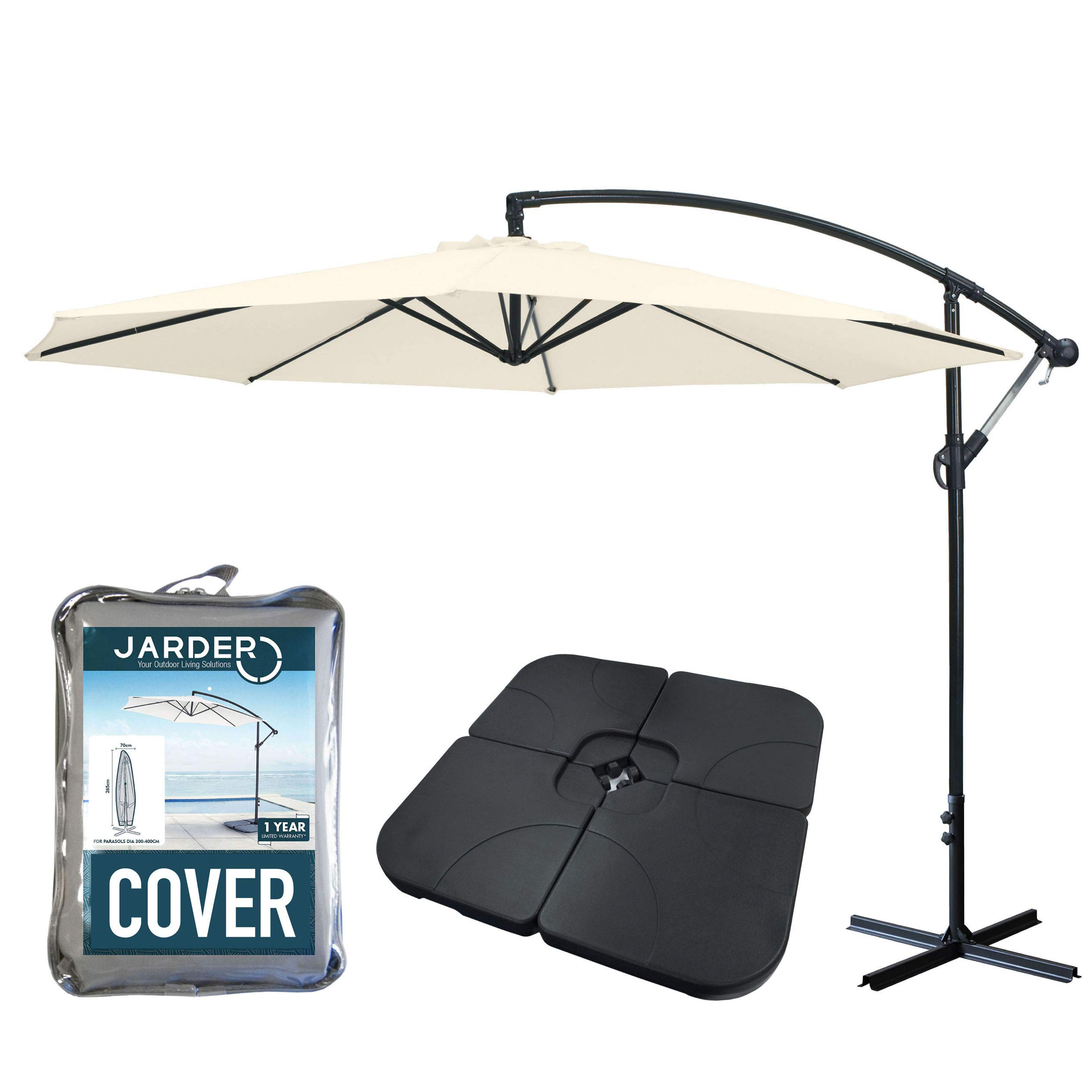 Backyard Deck 48mm GYMAX Weather Resistant /& Round Cast Iron Effect Parasol Stand for Garden Bronze 11KG Umbrella Base with Adjustable Tightening Knob for Pole Diameter 38mm Patio