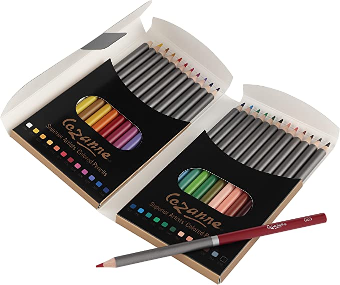 Cezanne Color and Graphite Pencil Set Professional Artist Quality Drawing and Coloring Pencils Break Resistant Leads with Triple Coated Barrels
