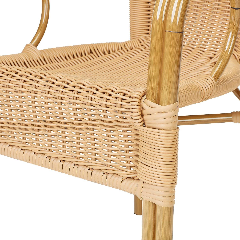 Lote de 2 sillones Ligure - Resina: Amazon.es: Hogar